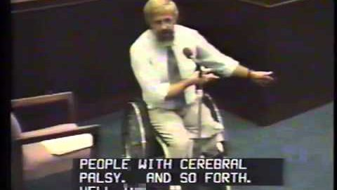 Historic EEOC video of Dr. Philip Calkins' presentation on the ADA. 9/11/1990