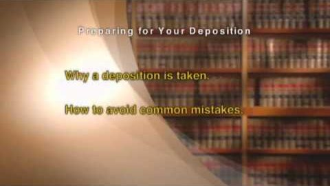 Preparing for Your Deposition – Excerpt