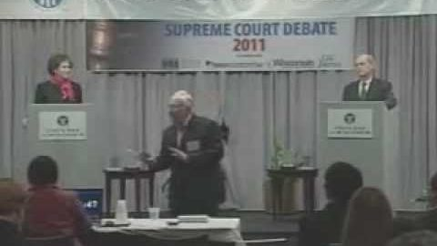 Wisconsin Supreme Court Debate – David Prosser and JoAnne Kloppenburg