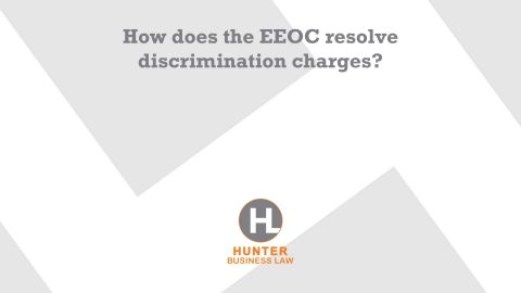 How does the EEOC resolve discrimination charges?