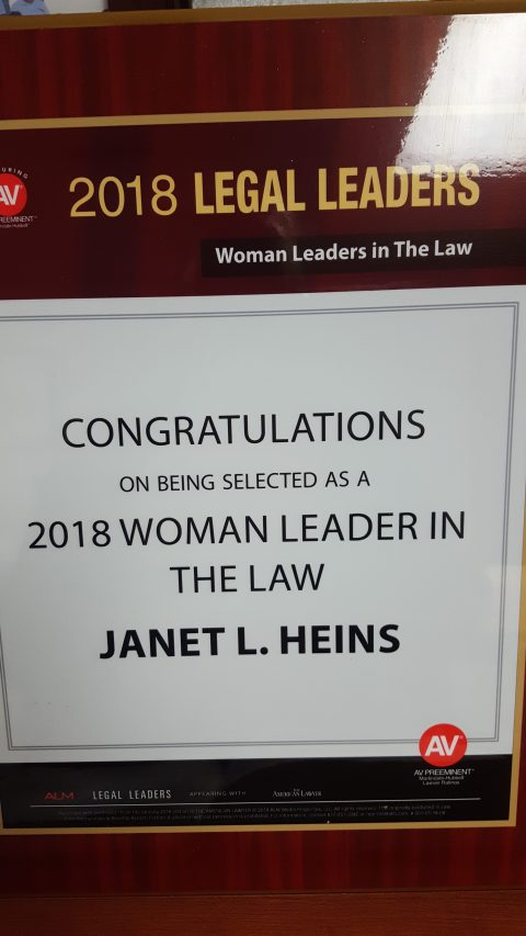 Janet L. H.E.L.P. – Heins Employment Law Practicenamed 2018 Woman Leader in the Law
