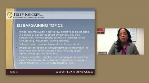 Bargaining Unit Employee Rights Under Furlough — Webinar by Tully Rinckey associate Raven L. Hall